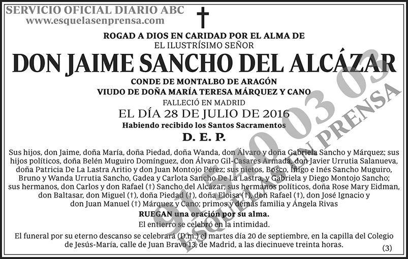 Jaime Sancho del Alcázar